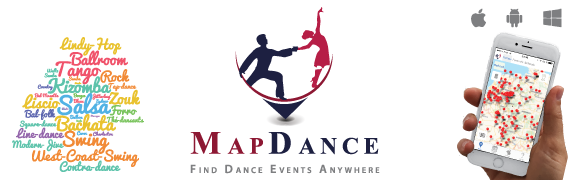 MapDance - Free app to find dance events anywhere